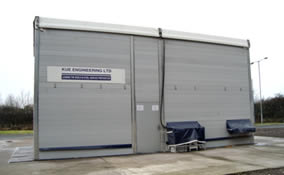 KUE Group Temporary blast building and enclosure